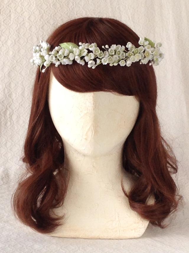 染め花スズランの花冠