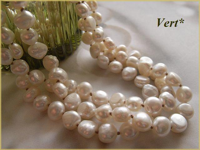 Vert* 【Vermeil】ホワイトバロック淡水...
