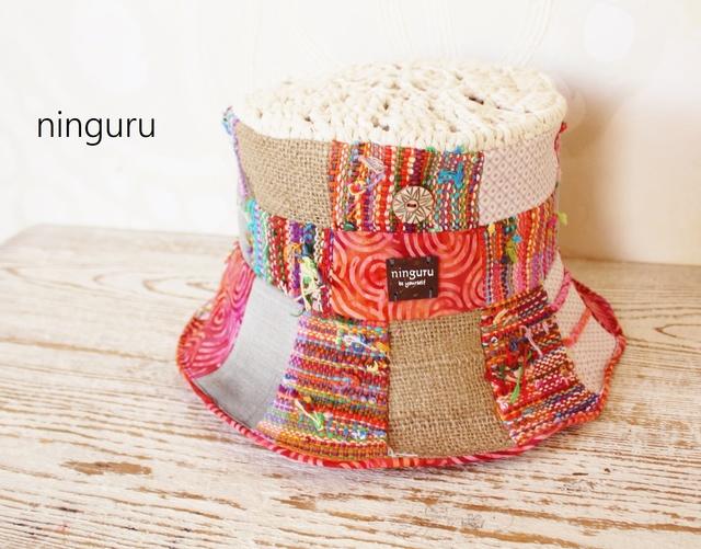 手編みTOP×手織り チェリーのHAT