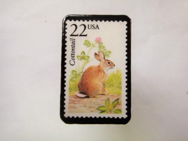 アメリカ 切手ブローチ 2555