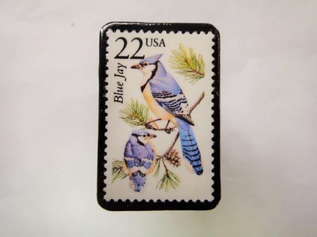 アメリカ 切手ブローチ 2557