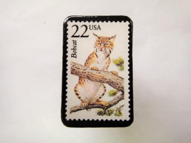 アメリカ 切手ブローチ 2558