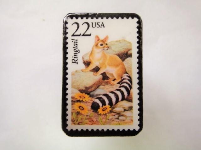アメリカ 切手ブローチ 2559