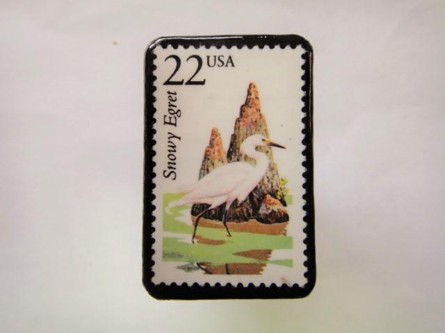 アメリカ 切手ブローチ 2560