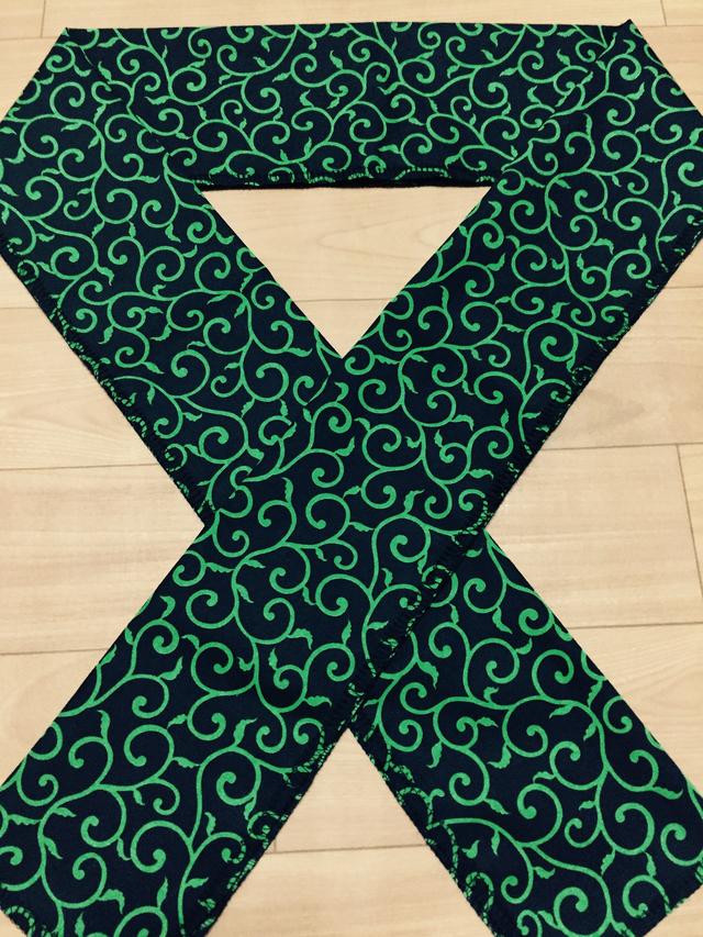 唐草の半襟(緑)