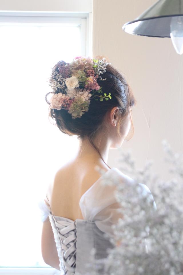 bride * head dress  #107 〔紫陽花×ブライダルヘッドドレス〕