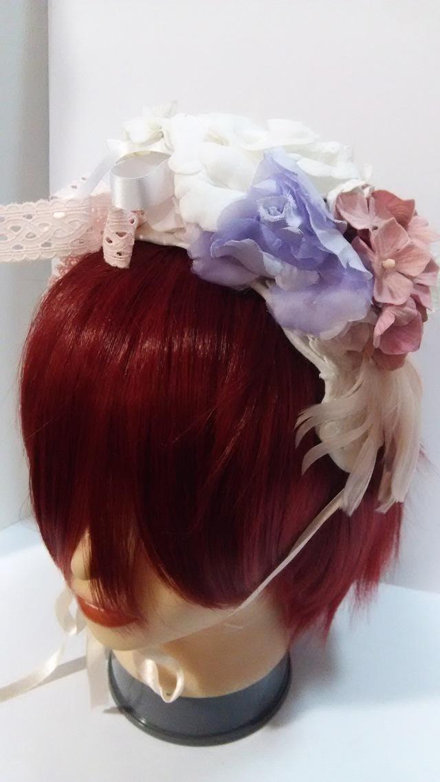 特価!送料無料!くすんだパステル系のお花のヘッドドレス