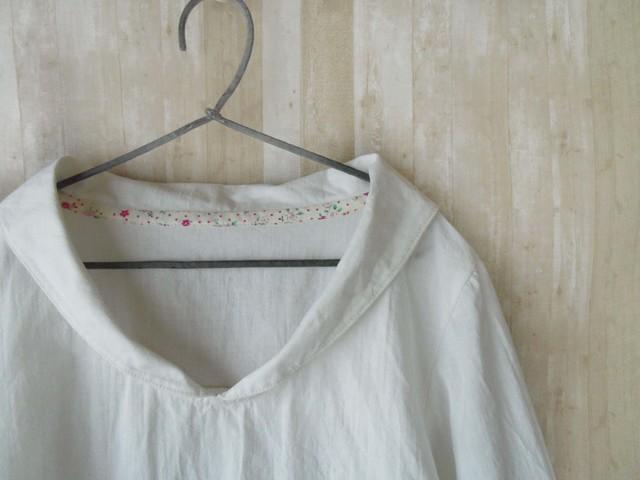 Msize 小さなセーラー襟のシャツ white