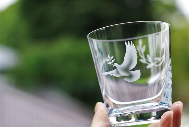 受注製作:鳩とオリーブ~不思議な水色グ...