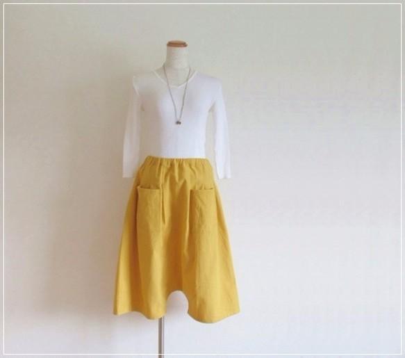 yellow* コットンリネン プチサルエルパ...