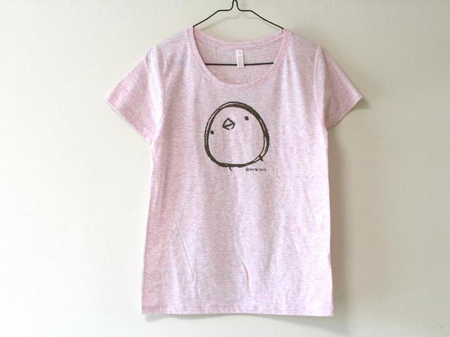 ひよこさんシンプルTシャツ 女性用M ヘザーピンク