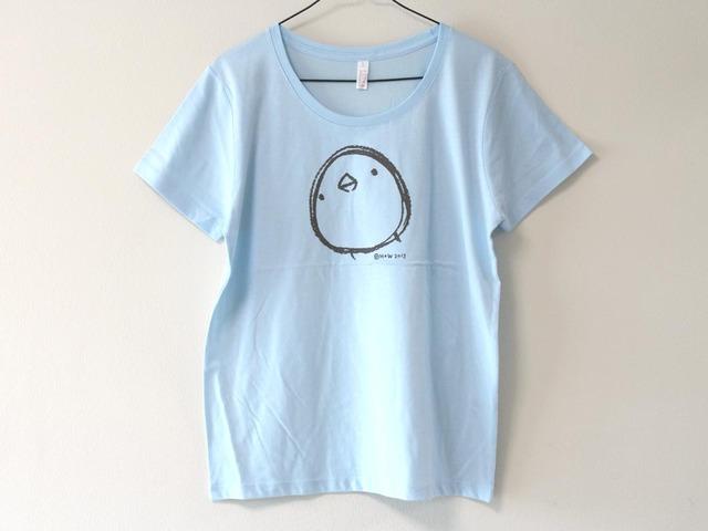 ひよこさんシンプルTシャツ 女性用L ライトブルー