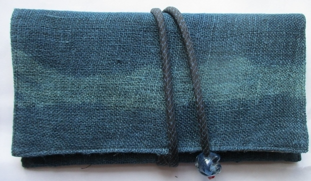 送料無料 麻の蚊帳で作った和風財布・...
