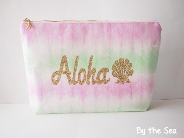 Aloha Shell クラッチバッグ Pink×Green