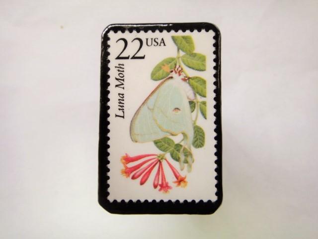 アメリカ 切手ブローチ 2563