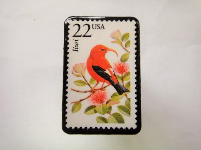 アメリカ 切手ブローチ 2564
