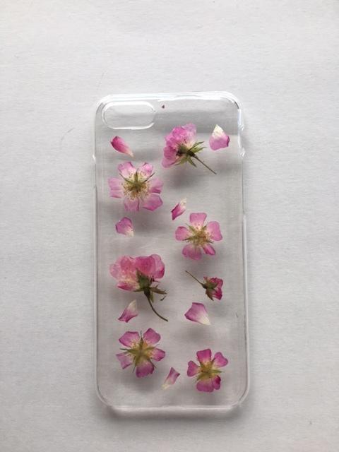 iphone7/6/6s用 薔薇の押し花スマホケース