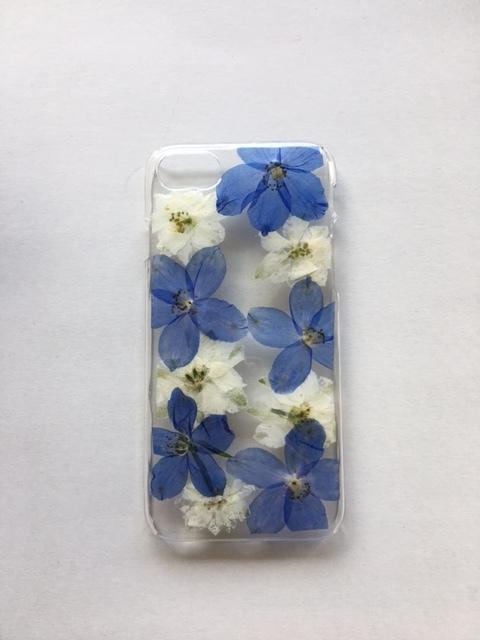 iphone7/6/6s用  押し花スマホケース