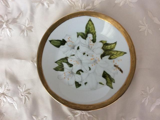 サツキの絵皿