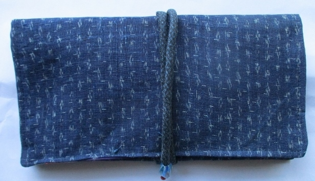 送料無料 麻の上布で作った和風財布・...