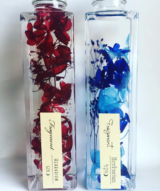 赤と青☆ 2本セット ハーバリウム「Fragment 」☆プレゼントに☆
