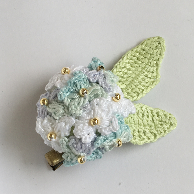 紫陽花の2wayヘアクリップ&コサージュ