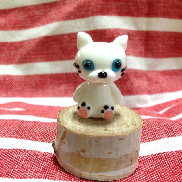 白猫のとんぼ玉