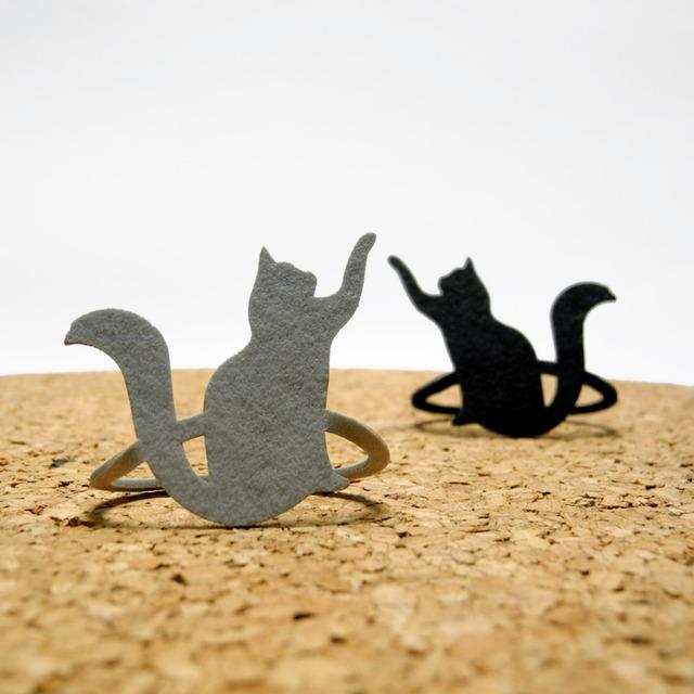 【送料¥80】 猫(ネコ)のブックマーク・黒猫 / 灰色猫 セット