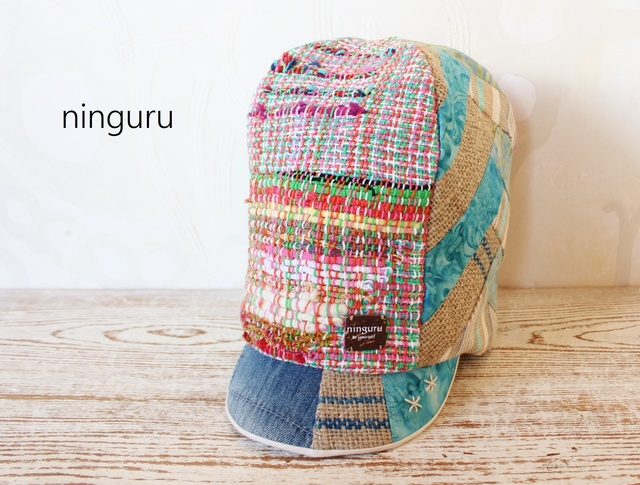 手織り背高帽子 Pink!