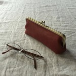 """gamaguchi"" pouch E / red"