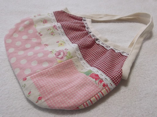 春色ピンク★ミニグラニーバッグ