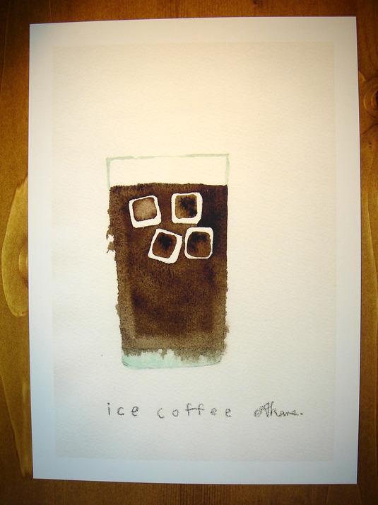 ゆる絵 ice coffee A4