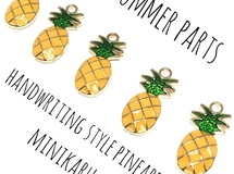 pineapple charm~ 5pcs
