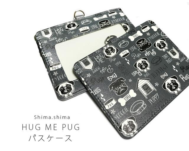 【受注生産】HUG ME PUGパスケース