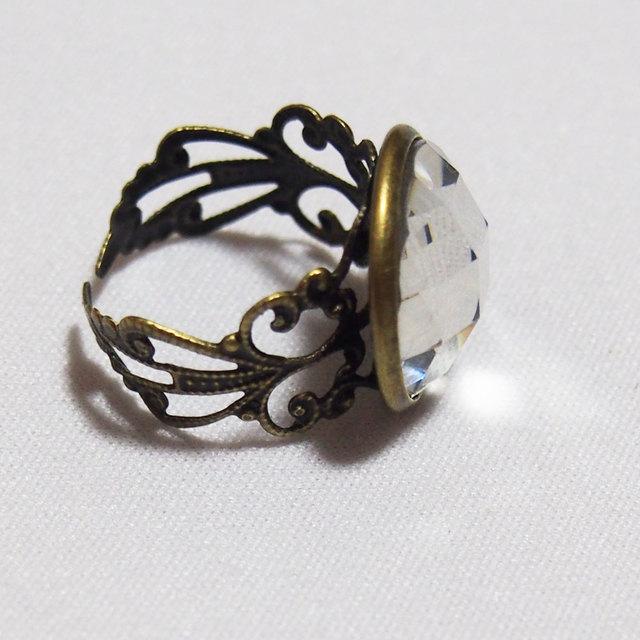 指輪 クリスタルストーン アンティー...