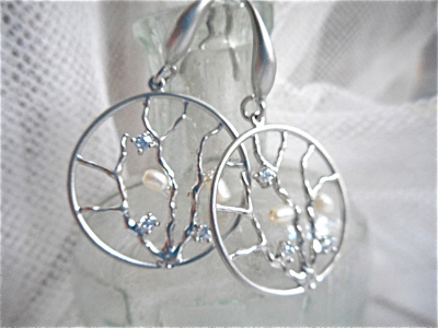 Coral Reef mermaid earrings/silver
