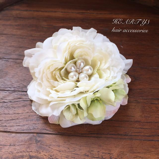 *お花パールと小花の髪飾り【送料無料】