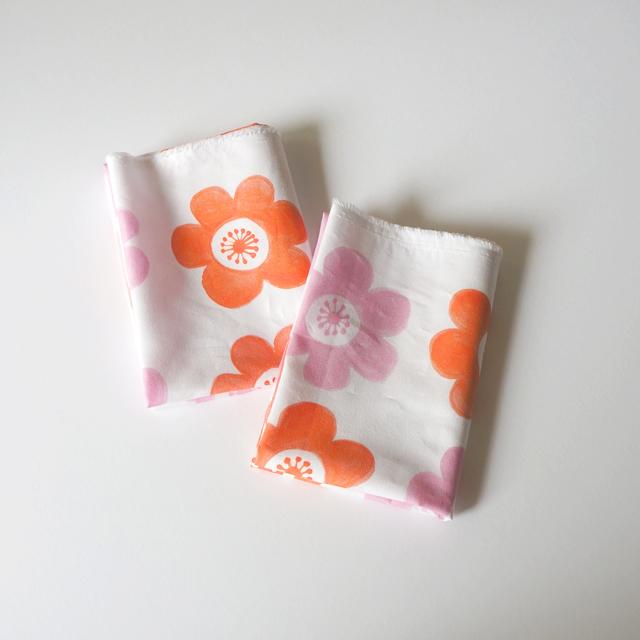 【カットクロス】 anemone(pink-orange...