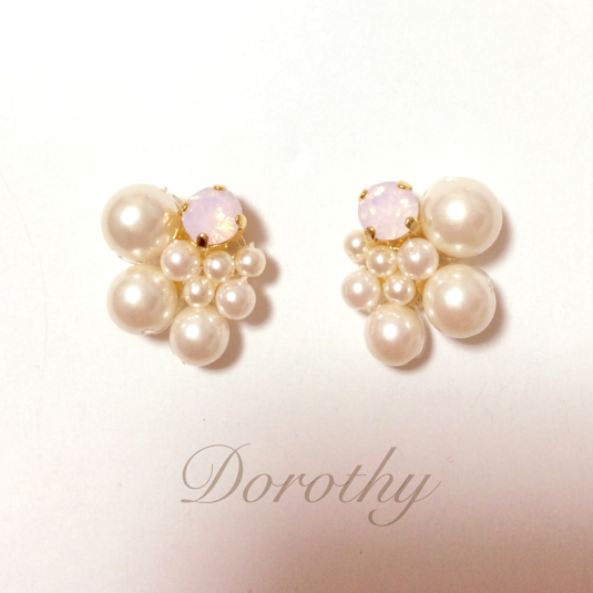 pink opal&rich pearl