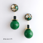 - rétro green - pierce & earring