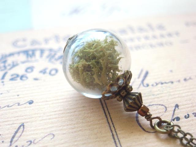 テラリウムの様な吹きガラスとナチュラ...