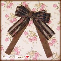 Chocolat Organdie-ribbon_ヘアクリップ