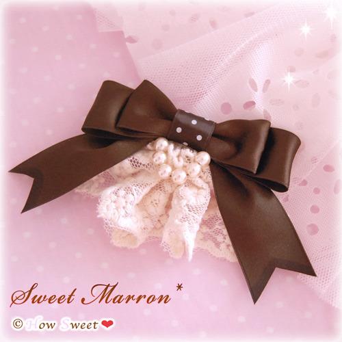 Sweet Marron*栗色ヘアクリップ