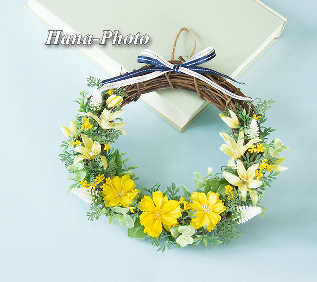 082) お洒落なリボンのビタミンカラー花...