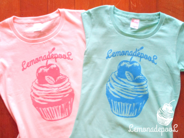 カップケーキ柄Tシャツ pastel