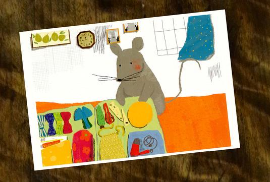 ネズミくんの旅(ポストカード2枚セット)009