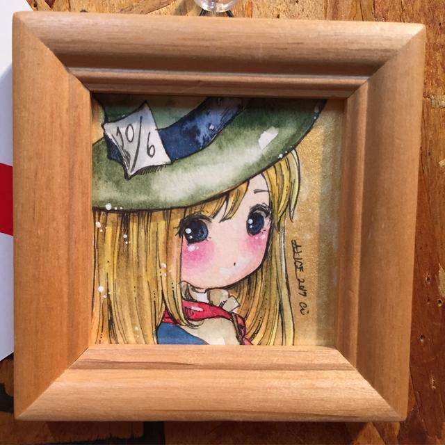 【水彩ミニ原画】マッドハッターの帽子