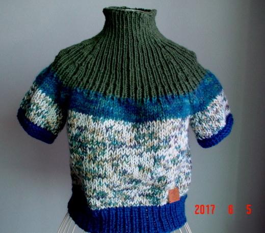 ☆リブ編みの丸ヨーク編み込み模様の半...