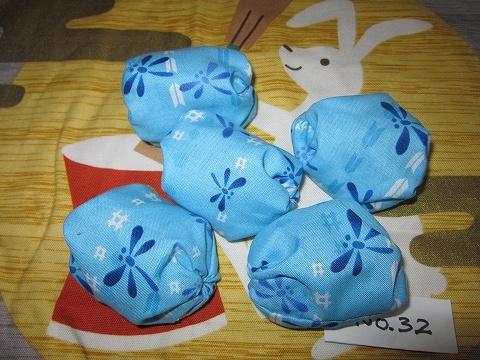 お手玉 5個セット (和柄・ブルー)