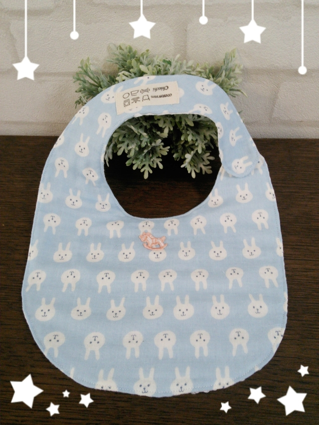 ☆BABY Chicchi  Sold out☆  BABYスタイ  うさぎブルー